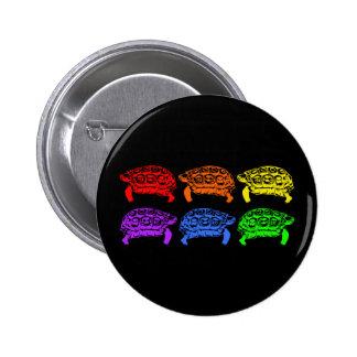 Rainbow Turtles 6 Cm Round Badge