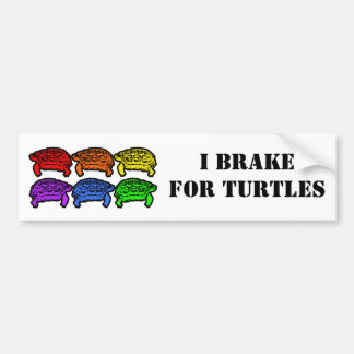 Rainbow Turtles Bumper Sticker