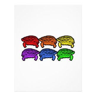 Rainbow Turtles Full Color Flyer