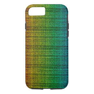 Rainbow Tweed Fabric Look Patterned iPhone 7 Case