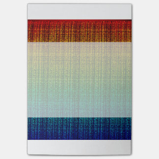 Rainbow Tweed Textured Look Patterned Post-it® Notes