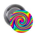 Rainbow Twirl 6 Cm Round Badge