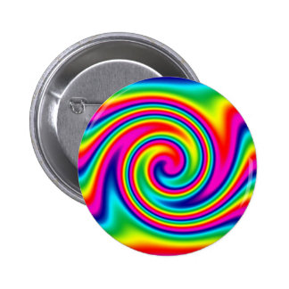 Rainbow Twirl 6 Cm Round Badge