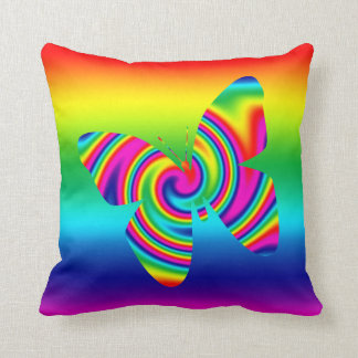 Rainbow Twirl Butterfly Cushions