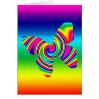 Rainbow Twirl Butterfly Greeting Card