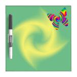 Rainbow Twirl Butterfly: Yellow/Green