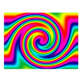 Rainbow Twirl Postcard