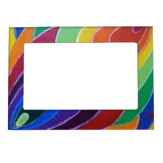 Rainbow Twist Spirals Magnet Photo Frame Picture Frame Magnet