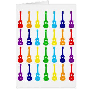 Rainbow Ukes Card