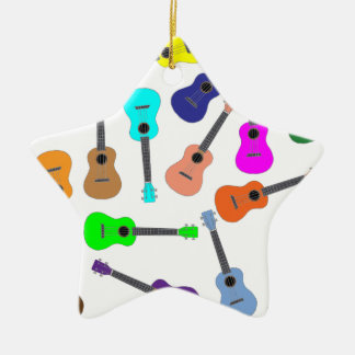 Rainbow Ukulele Christmas Ornament