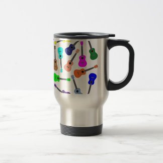 Rainbow Ukulele Travel Mug