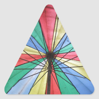 Rainbow Umbrella Triangle Sticker