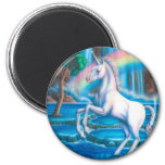 Rainbow Unicorn 6 Cm Round Magnet