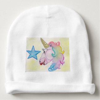 rainbow unicorn baby beanie
