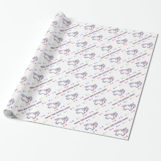 Rainbow Unicorn Birthday Wrapping Paper