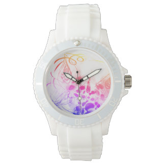 Rainbow Unicorn Butterfly Kitten Love RubyK Watch