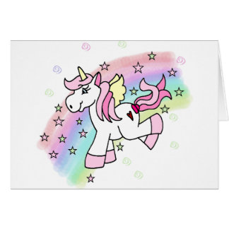Rainbow Unicorn Card