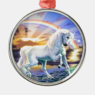 Rainbow Unicorn Christmas Ornament