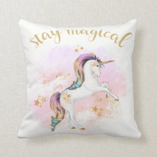 Rainbow Unicorn Cushion, Stay Magical Cushion