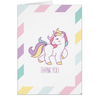 Rainbow Unicorn Girls Birthday Party Card