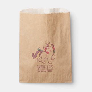 Rainbow Unicorn Girls Birthday Party Favour Bags
