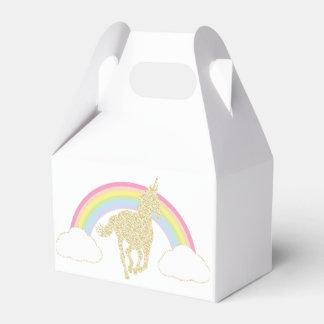 Rainbow Unicorn Glitter Party Favor Box