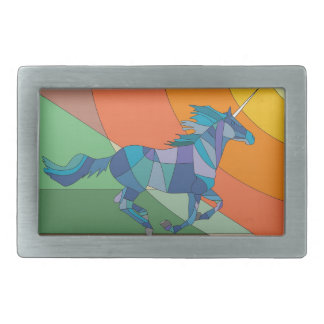 Rainbow Unicorn Horse Belt Buckle