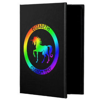 Rainbow Unicorn In Black Circles Powis iPad Air 2 Case