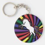 Rainbow Unicorn Key Chain