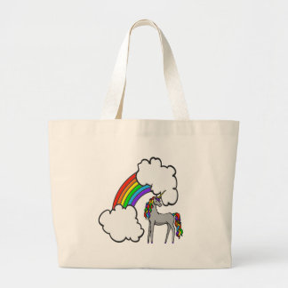 Rainbow Unicorn Large Tote Bag