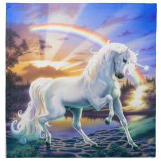Rainbow Unicorn Napkin
