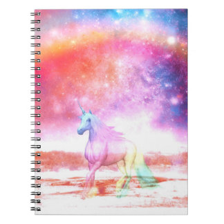 Rainbow unicorn notebooks