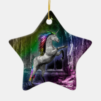 Rainbow Unicorn Ornament