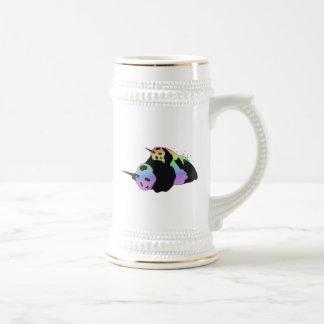 Rainbow Unicorn Pandas Magic Sparkle Cuddle Beer Stein
