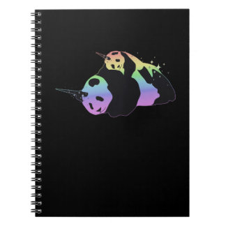 Rainbow Unicorn Pandas Magic Sparkle Cuddle Notebook
