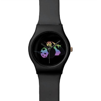 Rainbow Unicorn Pandas Magic Sparkle Cuddle Wristwatches