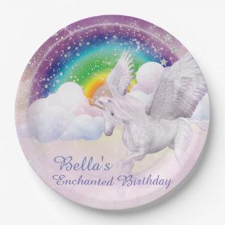 Rainbow Unicorn Paper Plates