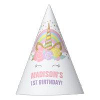 Rainbow Unicorn Party Hat Unicorn Birthday Party