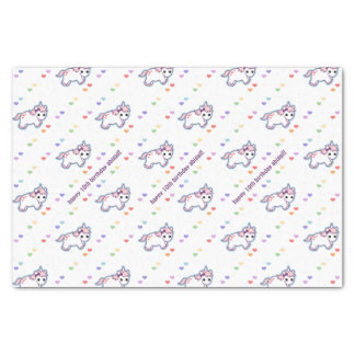 Rainbow Unicorn Party Tissue Paper