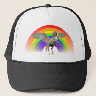 Rainbow Unicorn Pegasus Trucker Hat