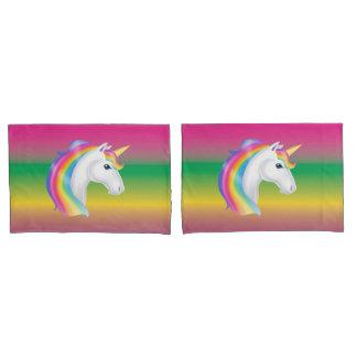Rainbow Unicorn Pillow Case Set