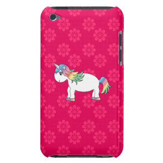 Rainbow unicorn pink flowes barely there iPod case