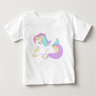 Rainbow unicorn pony horse cartoon design baby T-Shirt