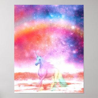 Rainbow unicorn poster
