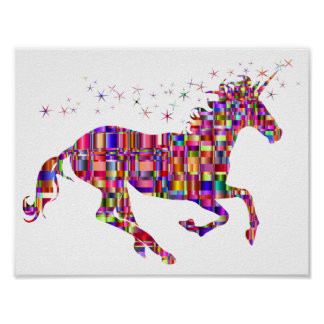 Rainbow Unicorn Poster for Kids