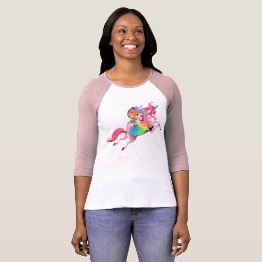 Rainbow Unicorn Raglan T-shirt