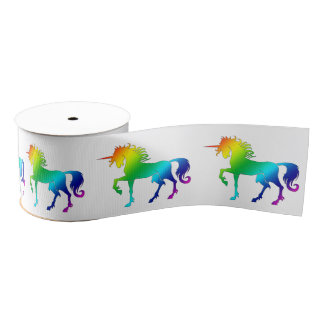 Rainbow Unicorn Ribbon Grosgrain Ribbon