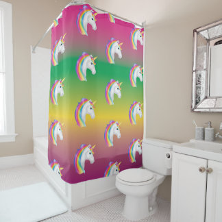 Rainbow Unicorn Shower Curtain