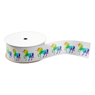 Rainbow Unicorn Small Ribbon Grosgrain Ribbon