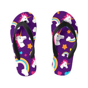 faa0013fab302b Rainbow Unicorn stars Baby Kid s Flip Flops